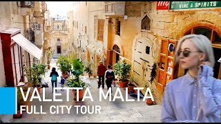 Видео [4K] Valletta Malta (2019) Walking Tour - Valletta City break, what to see in Valletta in one day от Living Walks, Валлетта, Мальта