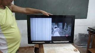 TV LCD LG: faltando imagem de um lado. Como saber se o defeito é da tela, ou não!