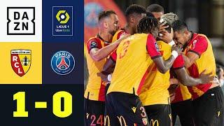 Aufsteiger Lens schlägt Pariser B-Elf: Lens - PSG 1:0 | Ligue 1 | DAZN Highlights