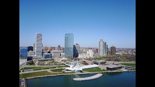 Downtown Milwaukee Wisconsin-From my Mavic Pro Drone