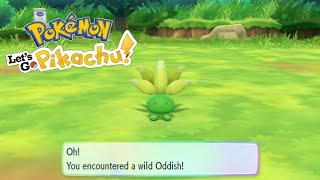 Shiny Oddish Reaction - Pokemon Let's Go Pikachu