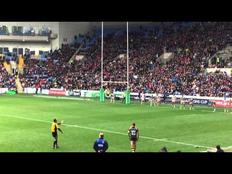 Jimmy Gopperth's conversion to get Wasps into Champion's Cup Semi Finals!