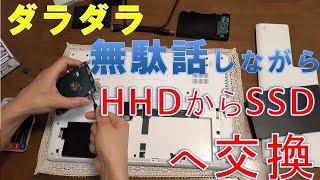 簡単!ノートパソコンのHDDから爆速SSDに交換の説明してみる