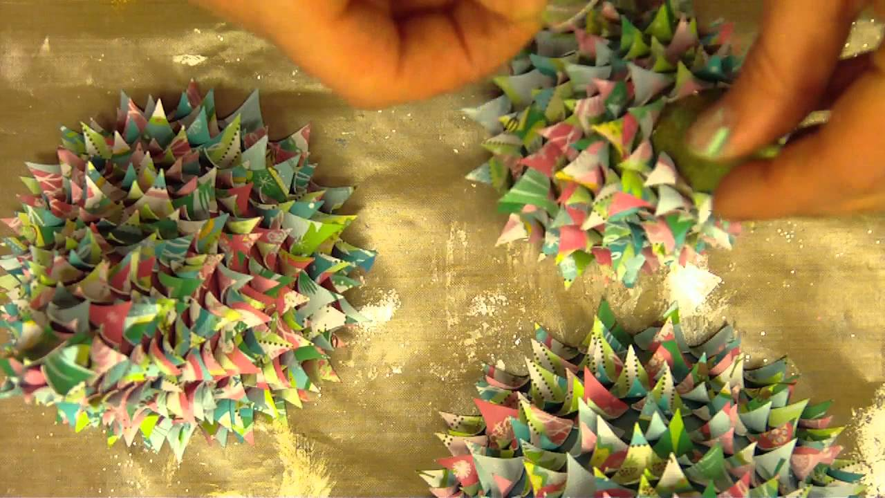 3D Cone Paper Christmas TreesMP4  YouTube