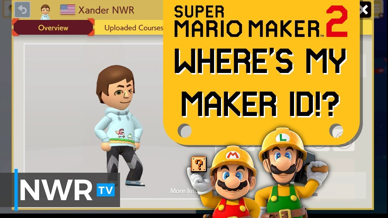 How to find your Maker ID in Super Mario Maker 2