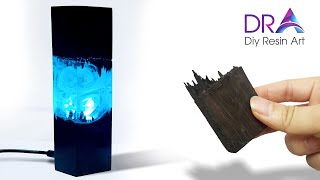 How to make this Nice Epoxy Resin Lamp | Diy Resin Art ideas | DRA