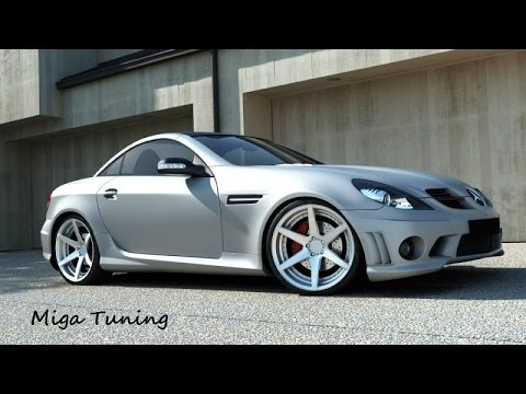 mercedes slk r171 tuning amg body kit youtube. Black Bedroom Furniture Sets. Home Design Ideas