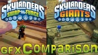 Skylanders Swap Force vs Giants Gameplay & Graphics Comparison - PS3 360 PS4 Xbox-One Wii-U