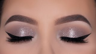 Soft and Easy Sparkly Eye Makeup Tutorial | Cool Toned Eye Makeup
