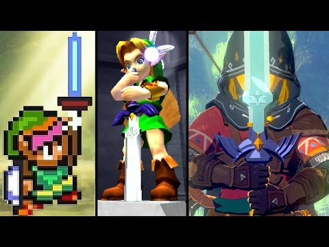 Zelda Evolution of The MASTER SWORD 1992-2017 (Breath of the Wild to SNES)
