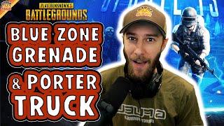 PUBG Update: NEW BĮue Zone Grenade and Porter Truck ft. Halifax & Alisa - chocoTaco PUBG Squads