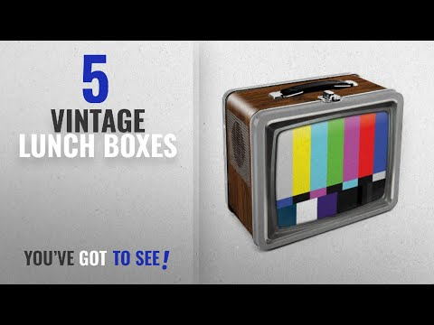 Best Vintage Lunch Boxes [2018]: Aquarius Vintage TV Embossed Large Tin Fun Box