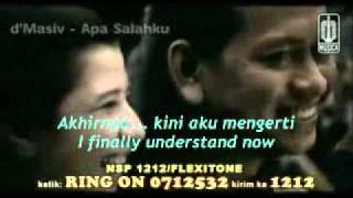 Beautiful Indonesian song: Apa Salahku (What Have I Done Wrong) - by D