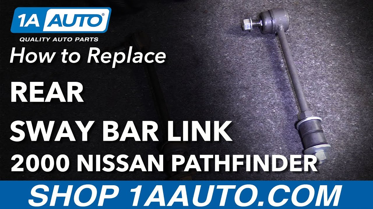 How to Replace Rear Sway Bar Link 87-04 Nissan Pathfinder