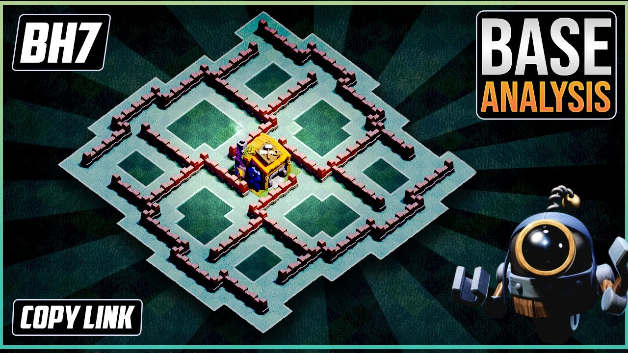 New Ultimate Bh7 Trophy Defense Base 2020 Builder Hall 7 Trophy Base Design Clash Of Clans Youtube
