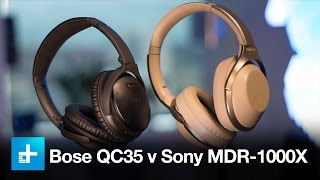 wireless noise canceling headphone comparison bose qc35 v sony mdr 1000x