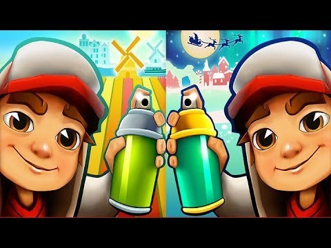 Subway Surfers Las Vegas VS Winter Holiday iPad Gameplay for Children HD #173
