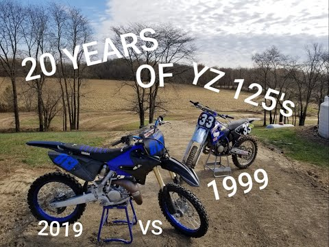 2019 YZ 125 VS 1999 YZ 125 20 YEARS OF YAMAHA