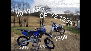 2019 YZ 125 VS 1999 YZ 125 20 YEARS OF YAMAHA