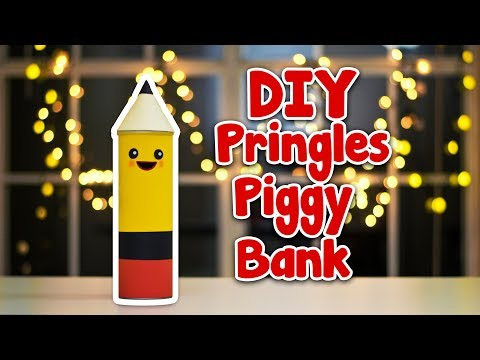 DIY Piggy Bank using Pringles can