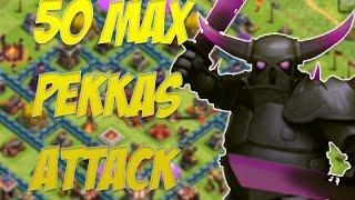 Clash of Clans - 50 Max Pekkas Attack | Skeleton Traps OP!