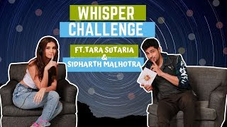 Whisper Challenge Ft Sidharth Malhotra and Tara Sutaria | Marjaavan