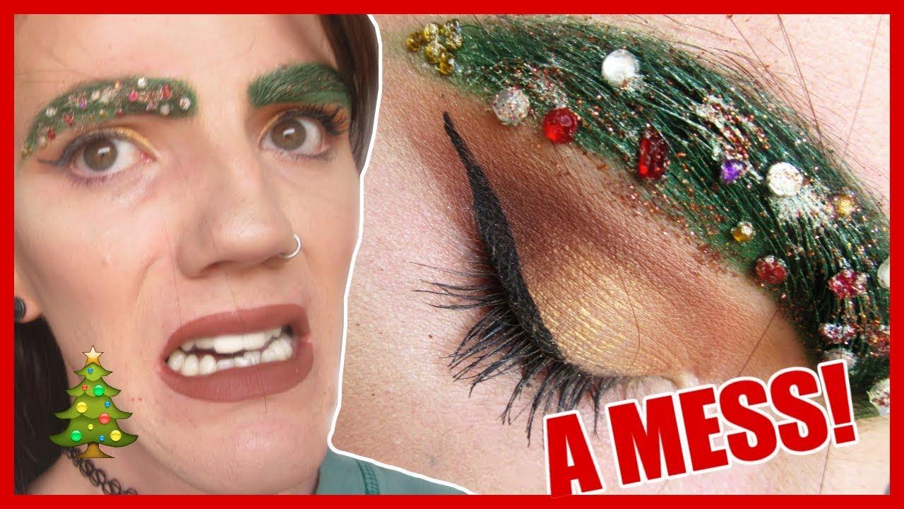 Christmas Tree Eyebrows.Weird Christmas Tree Eyebrows Trend Fail I Meltdown At The End