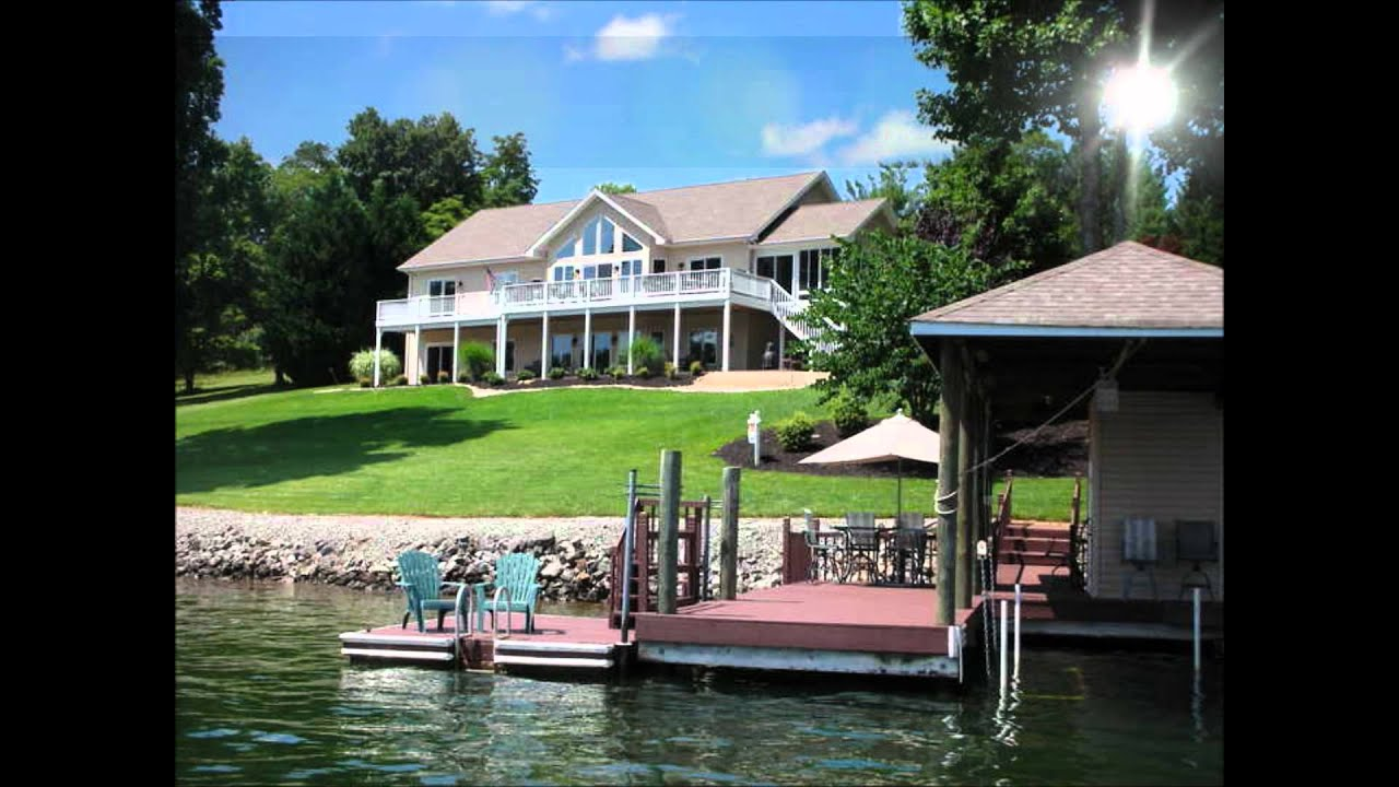Waterfront homes for sale at smith mountain lake va youtube for Lake house builders