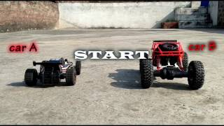 RC Crazy Race double round Speed car vs Rock crawler