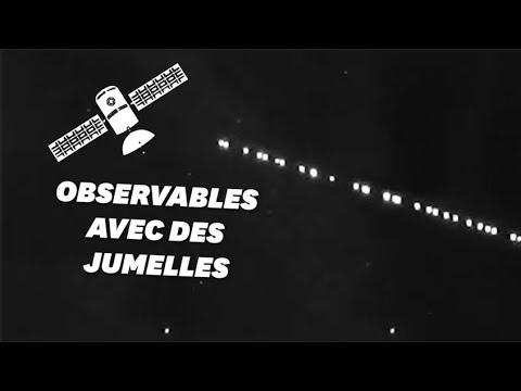 Les satellites Starlink visibles en file indienne depuis la Terre