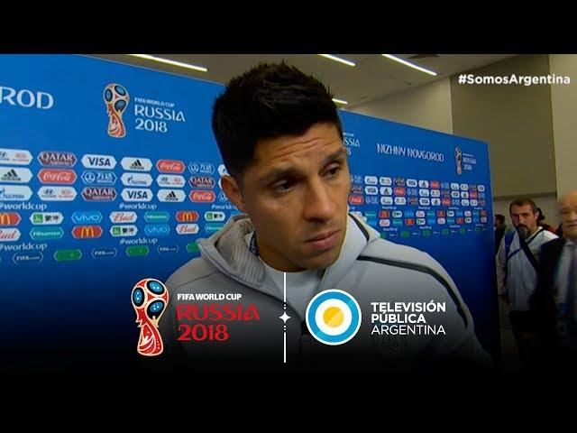 Declaraciones de Enzo Pérez y Sergio Agüero tras la derrota ante Croacia   #Rusia2018