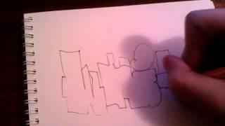 уроки Граффити на бумаге (основы)