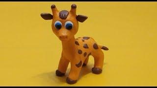 лепка, Жираф из пластилина