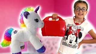 Masha and toy story about toy animals