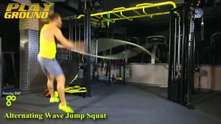 Ready Set Go Playground Exercise - Alternating Wave Jump Squat