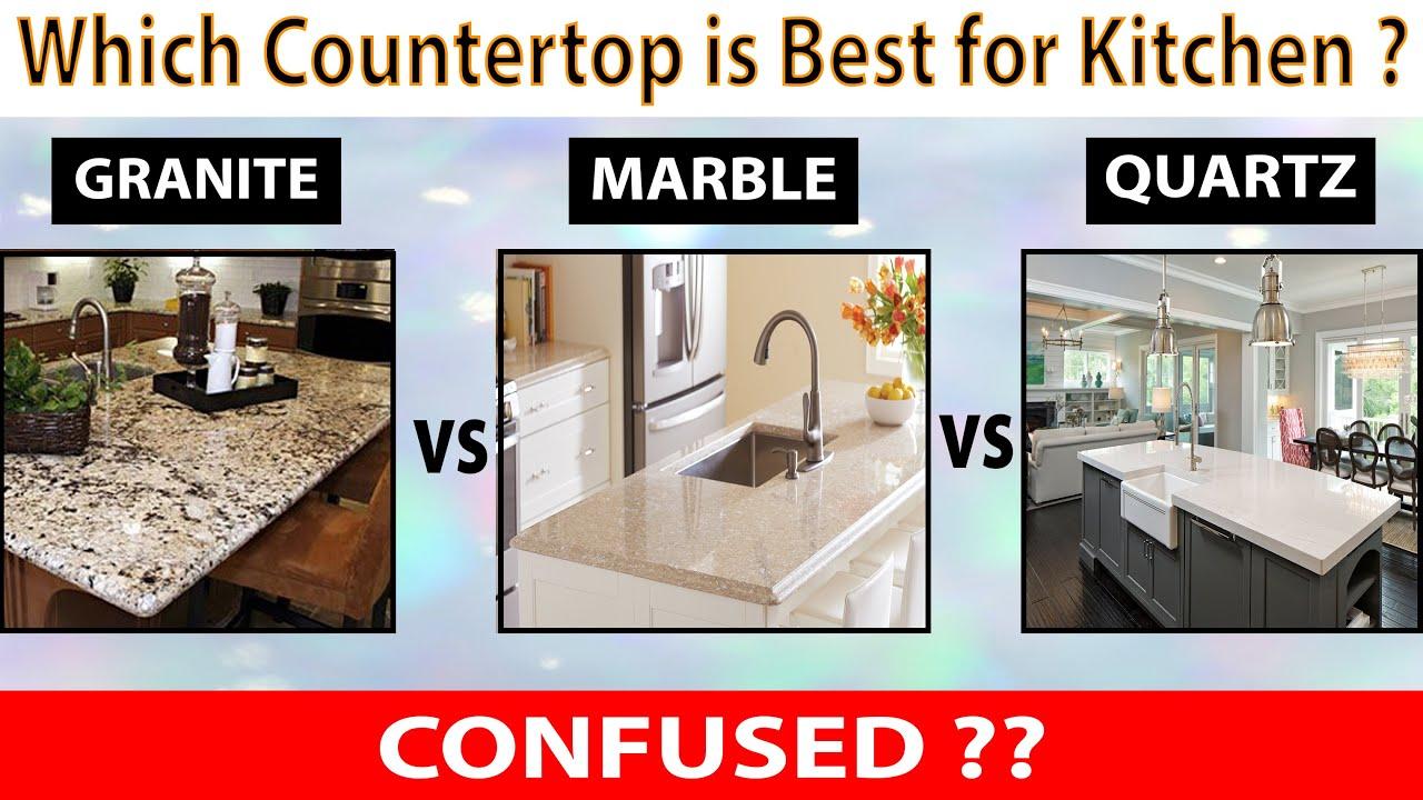 Granite Vs Marble Vs Quartz Kitchen Countertops Ideas Youtube