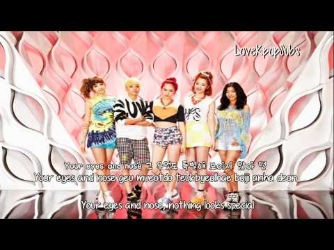 F(x) - Pretty Girl [English subs + Romanization + Hangul] HD