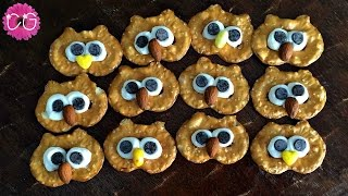 Owl Pretzels Easy & Fun Party Snacks!
