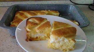 Пирог торт с апельсинами и заварным кремом