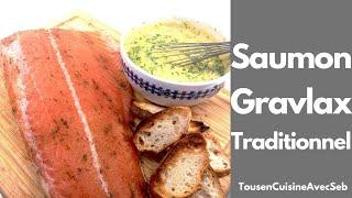 Saumon Gravlax traditionnel (tousencuisineavecseb)