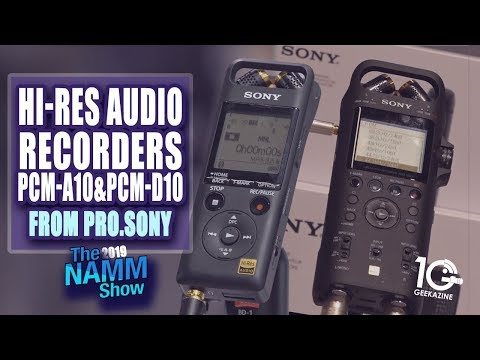 Sony Hi-Res Recorders PCM-A10 And PCM-D10