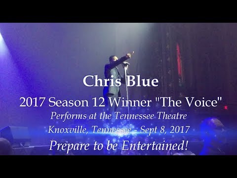 The Voice Winner Chris Blue  in Ccert Tennessee Theatre September 8, 2017