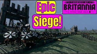 THIS SIEGE WAS EPIC! Total War Saga Thrones of Britannia Siege | The Siege of Werham