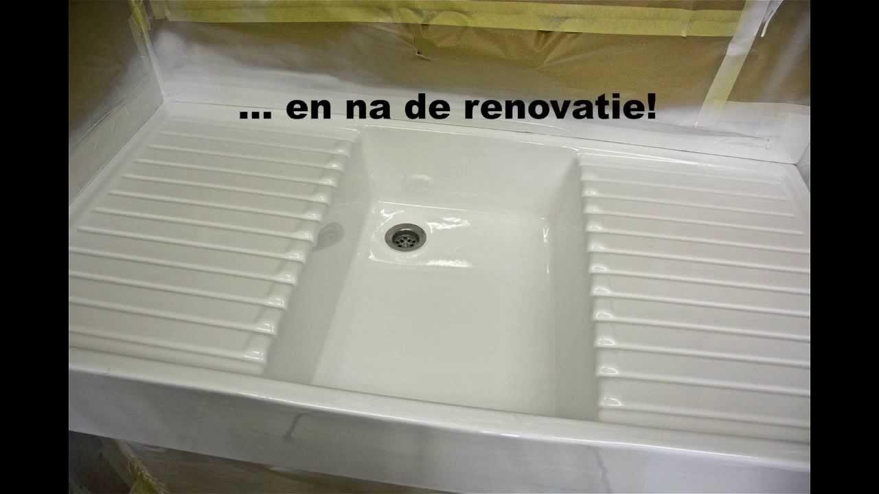 Het Chique Huis  Renovatie sanitair  YouTube # Wasbak Emaille_083450