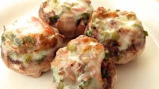 Cheese Stuffed Crab Mushrooms Recipe