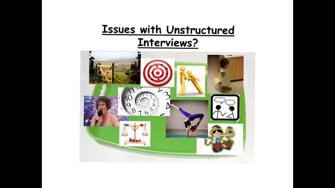structured and unstructured interviews