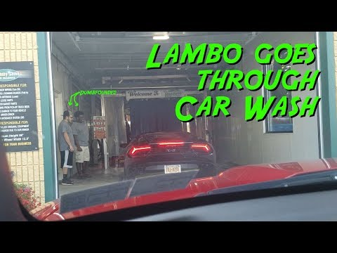 Lambo goes through a Car Wash - Supercars on State Street
