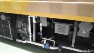 京都鉄道博物館で志国高知幕末維新号の車両紹介シーン(2020年2月1日土曜日)携帯電話で撮影