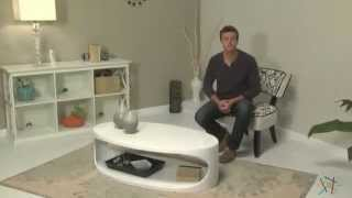Ital Modern Carrie White Oval Coffee Table - Product Review Video
