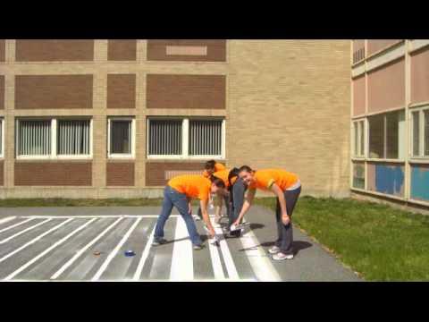 BSU Students Clean Up Mulcahey Elementary School in Taunton